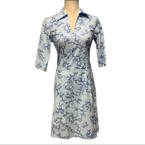NWT J. McLaughlin V-neck Elbow Sleeve Print Dress